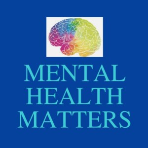 "The photo shows a picture of a brain with the letters ""Mental health matters"" below it"