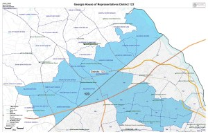 GA House District 123 map