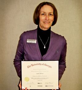 Connie Milionta with Certificate