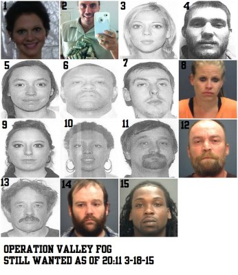 Operation Valley Fog Wanted as of 2011 and NUMBERED