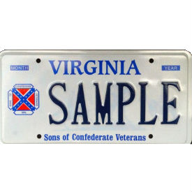 confed flag plate