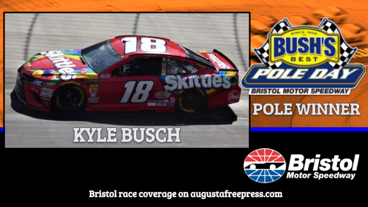 Kyle Busch Drives To Cup Pole At Bristol