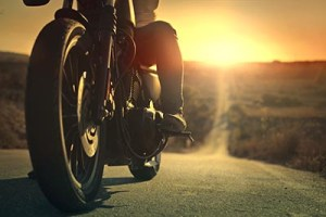 motorcycle road sunset sunrise business