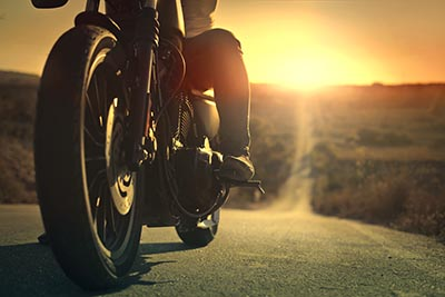 motorcycle road sunset sunrise business