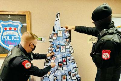 Harrisonburg Police Christmas Trees 2