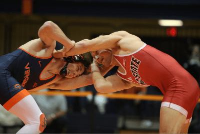 No. 2 Hayden Hidlay (NCSU) dec. No. 16 Justin McCoy 6-3