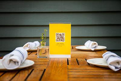 restaurant menus QR code