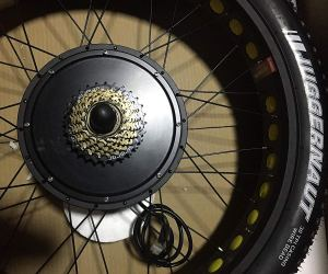 NBPower 26″ x 4.0 48V 1500W Electric Bicycle Fat bike kit