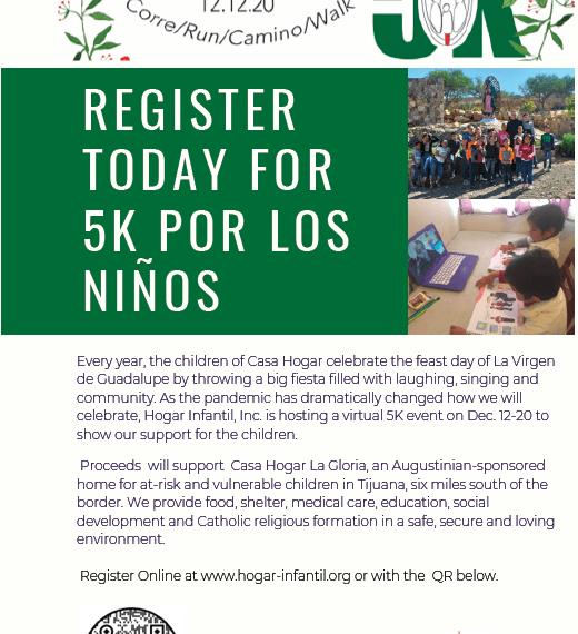 Virtual 5K to support the children of Casa Hogar La Gloria