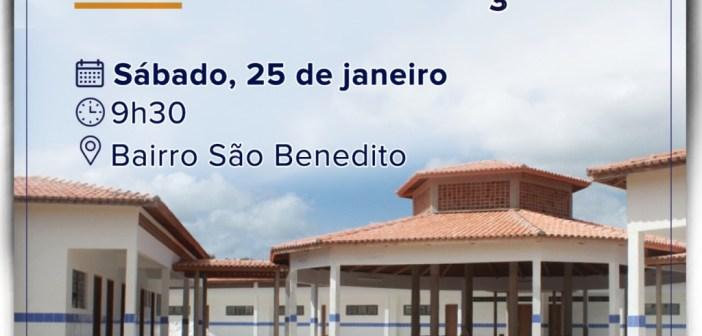 Inauguração da Escola Municipal Alfredo Monteiro de Seixas
