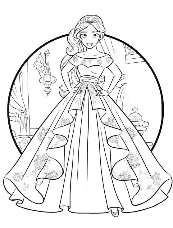 Раскраска Елена из Авалора - детские раскраски распечатать ...