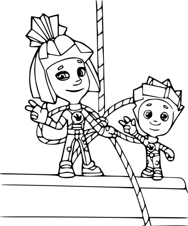 Раскраска Фиксики - детские раскраски распечатать бесплатно