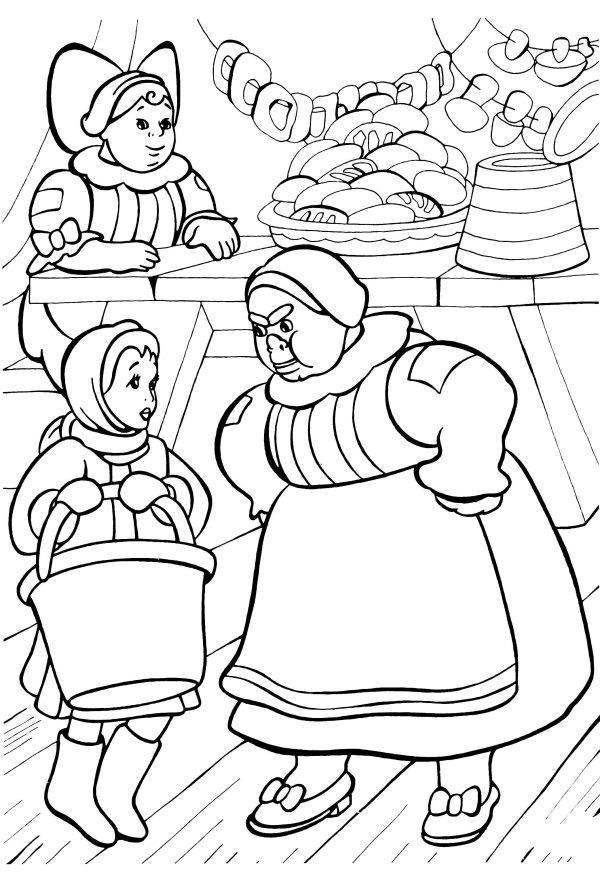 Раскраска Сказка 12 месяцев - детские раскраски ...