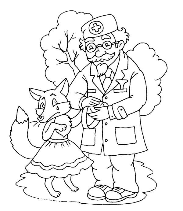 Раскраска Айболит для детей - детские раскраски ...