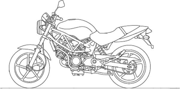 Раскраска Мотоцикл детские раскраски распечатать бесплатно