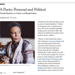 Claudia Rankine in the New York Times