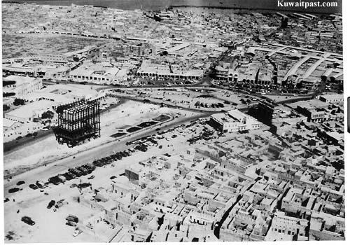 old kuwait neighborhood aerial