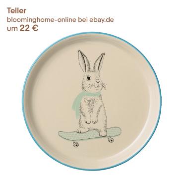 Teller mit Hase zu Ostern verschenken