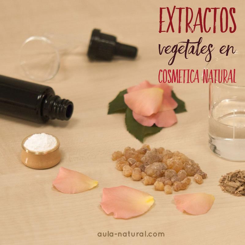 Extractos vegetales en cosmética natural