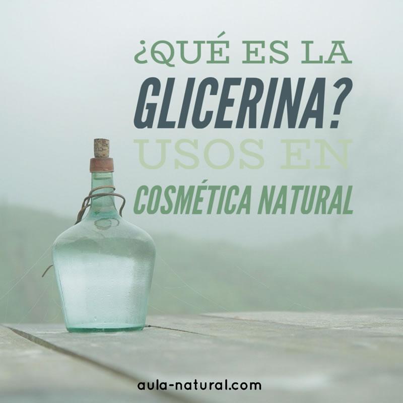¿Qué es la glicerina?