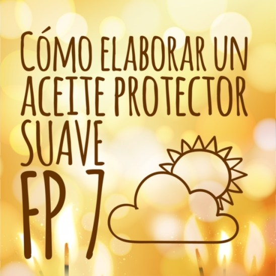 Aceite solar protector suave (FP 7)