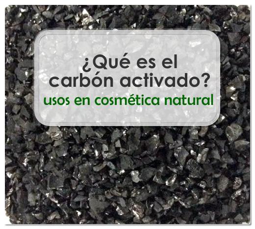 Qué es el carbón activado. Usos en cosmética natural