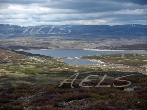Panorámica del embalse desde las laderas del Castillón. 20 de mayo de 2008
