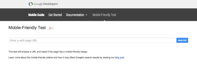 Mobile-Friendly Test de Google