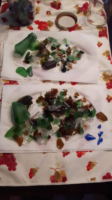 Beach Glass collected