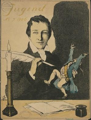 Caricatura de Heinrich Heine