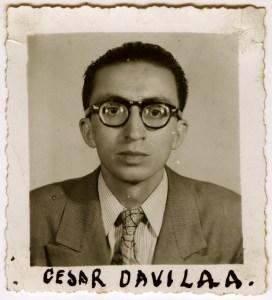 César Dávila Andrade foto joven