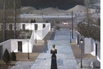 Landscape with lanterns (1958) by Paul Delvaux