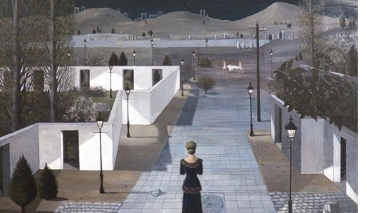 Landscape with lanterns (1958) by Paul Delvaux