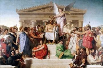 La apoteosis de Homero (1827) de Jean Auguste Dominique Ingres