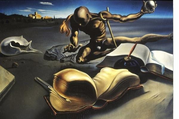 Libro transformándose en mujer desnuda (1940) de Salvador Dalí