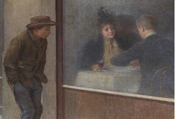 Riflessioni di un affamato (1893) di Emilio-Longoni