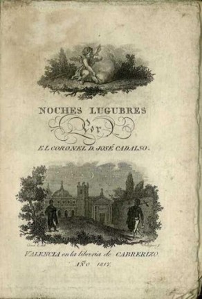Portada de noches lúgubres en su edición de 1817.