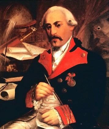 Retrato de José Cadalso (1855) por Pablo de Castas Romero, situado en el Museo de las Cortes de Cádiz.