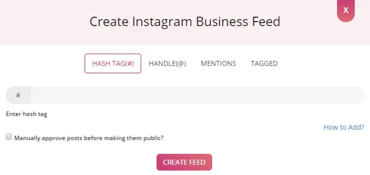 Create Instagram business feed