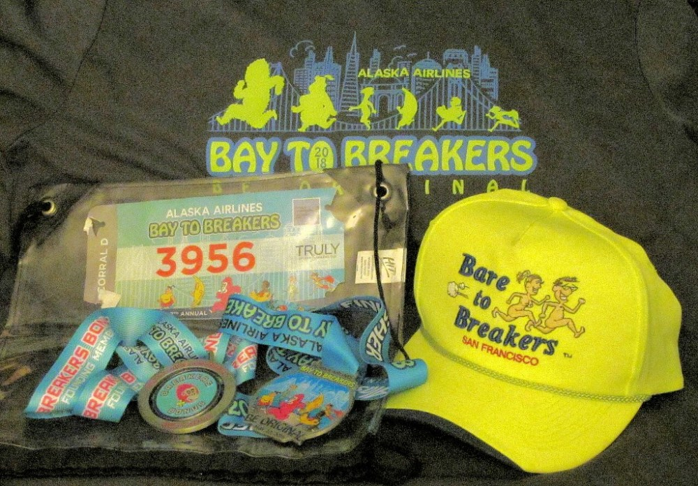 Bare to Breakers hat and B2B loot!