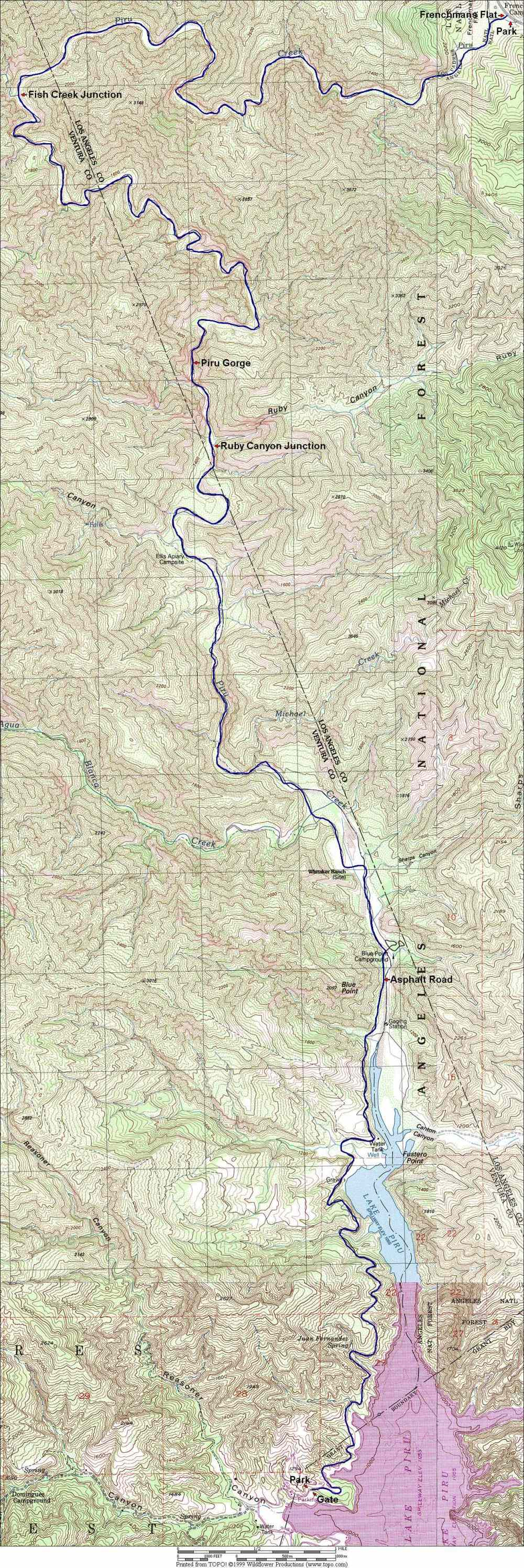 Piru Creek map