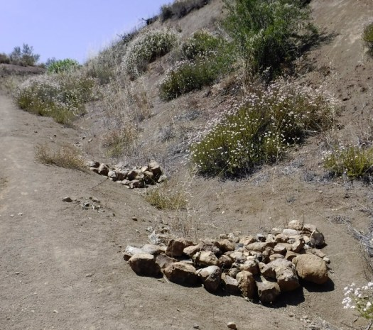 Trail was damaged due to erosion.