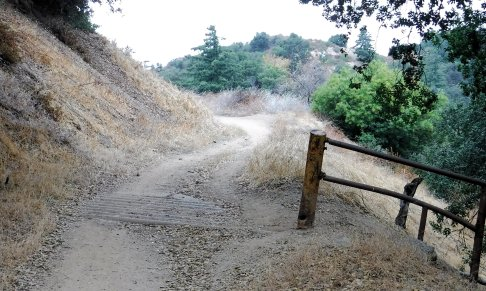 The trail I am hiking was once a road going thru a cattle ranch. The cattle guard is a reminder.