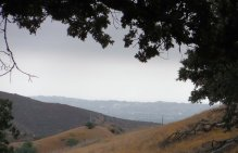 Looking south from the ridgeline, you can see that far side of the San Fernando Valley.