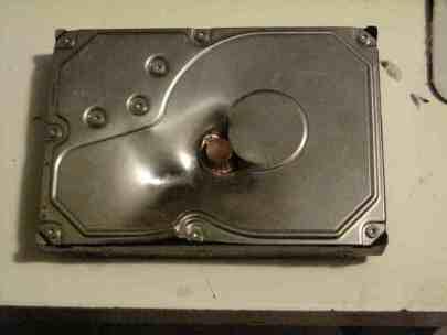 Hard drive shot