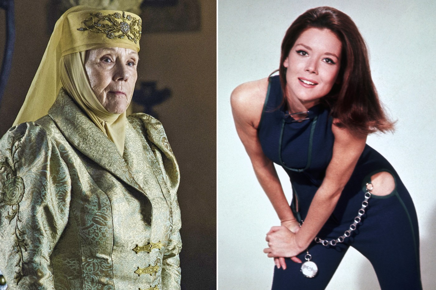 Diana Rigg then and now