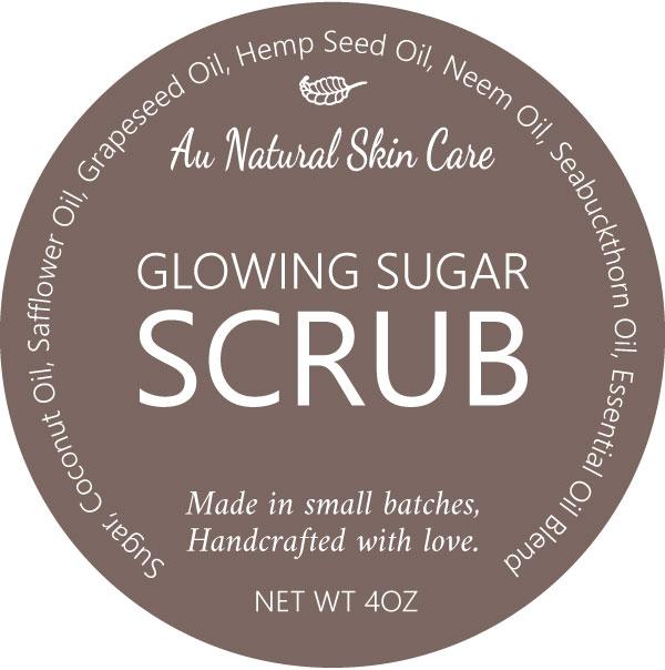 glowing sugar scrub