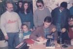 Aunión, Miguel Bosé, Jose Miguel Villar y Rafa Martínez en Borjans Gandía