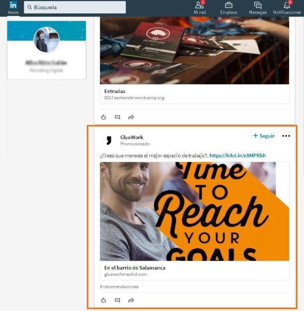 publicidad en redes sociales: LinkedIn