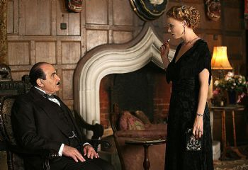 11/03/2009 FEATURES: 11/03/2009 FEATURES: Actors David Suchet and Mary Stockley in a scene from TV show 'Agatha Christie's Poirot'.